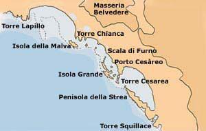 Porto Cesareo Puglia Cartina.Salentonline It Il Portale Del Salento Itinerari